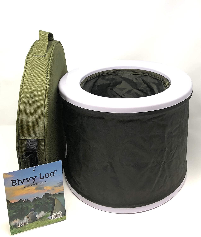 Bivvy Loo Portable toilette - toilette de camping - Festival de toilettes WC - Pêche - Camping WC - SE plie à plat - Prend en charge plus 150kg